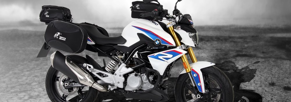 Motorcycle accessories and hard or soft luggage for BMWs 2017 G310R by Hepco & Becker and  Motorcycle Adventure Products