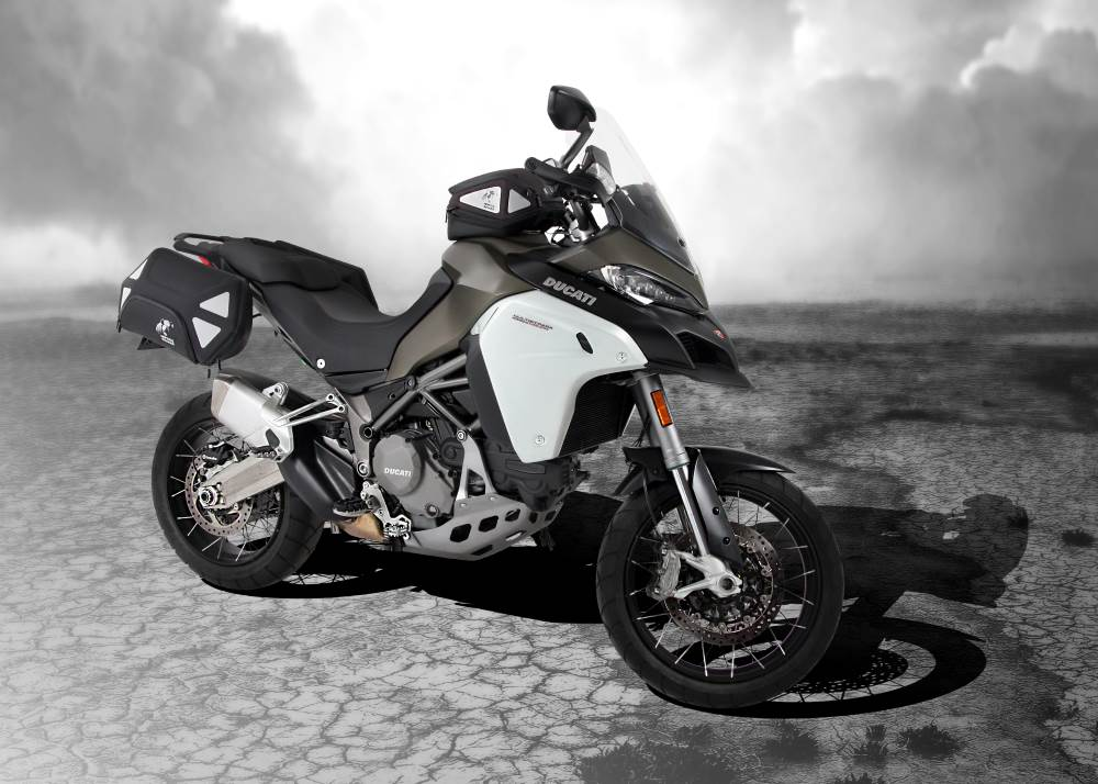 Ducati Multistrada 1200 Enduro with Hepco & Becker motorcycle luggage and accessories from Motorcycle Adventure Products