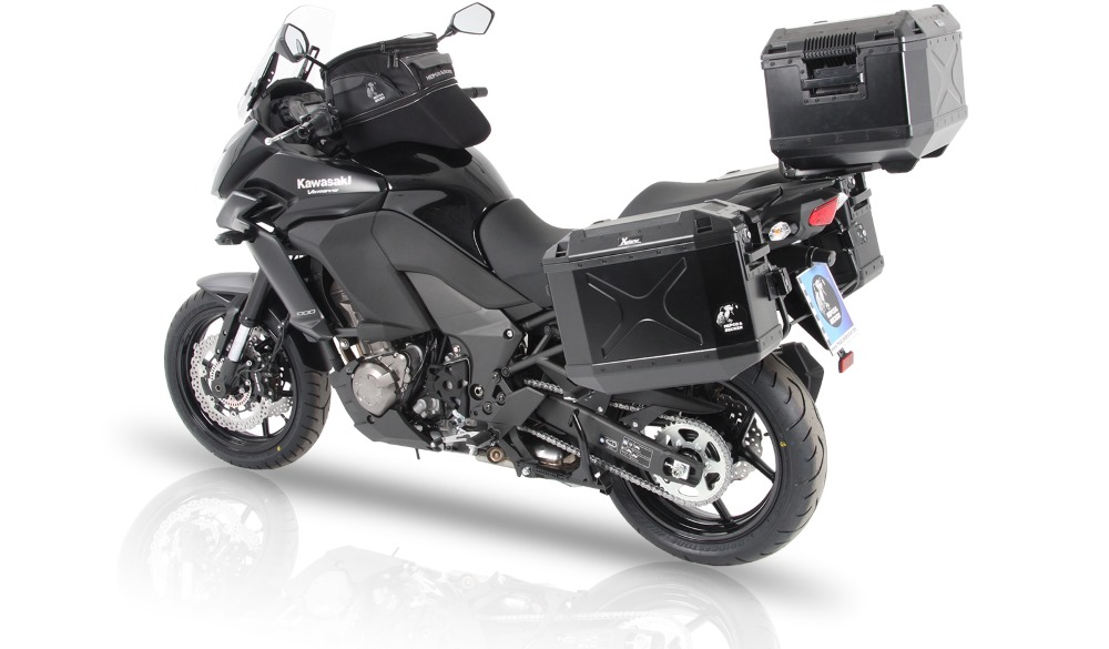 For Kawasaki's Versys 1000 from 2015, we offer Hepco & Becker motorcycle accessories, luggage and more.  All available in Australia from Motorcycle Adventure Products