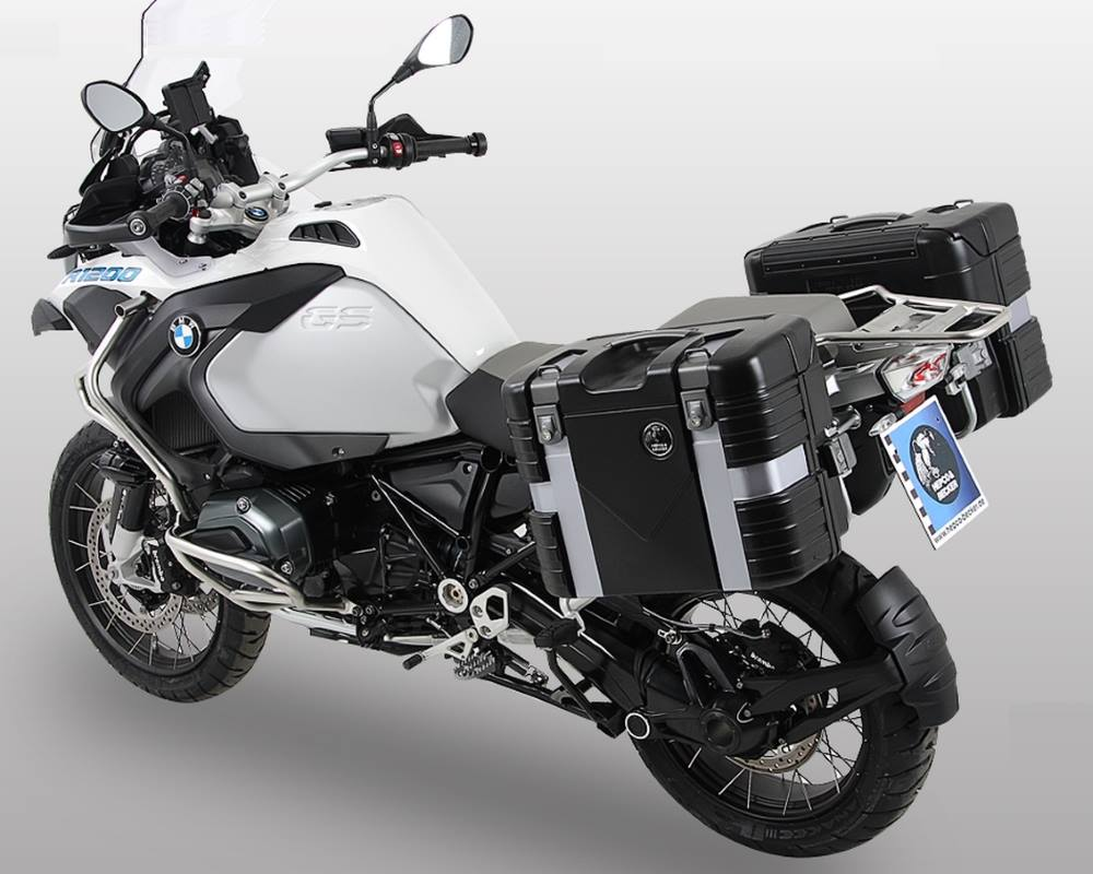 Hepco & Becker motorcycle accessories and luggage for BMW's R1200GS Adventure 2014 on. Hepco & Becker & more from Motorcycle Adventure Products