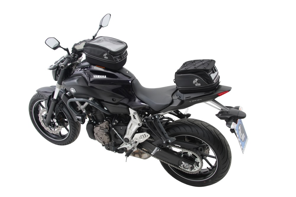 Yamaha MT-07 with Hepco & Becker motorcycle luggage and accessories from Motorcycle Adventure Products