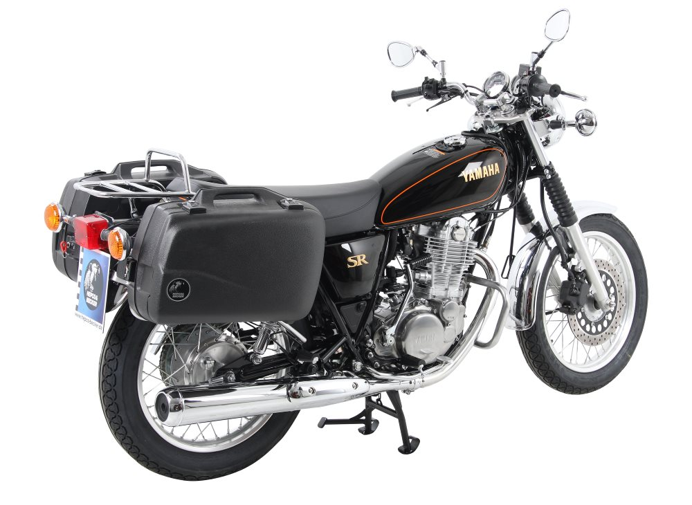 For Yamaha's SR400, we offer Hepco & Becker motorcycle accessories, luggage and more.  All available in Australia from Motorcycle Adventure Products