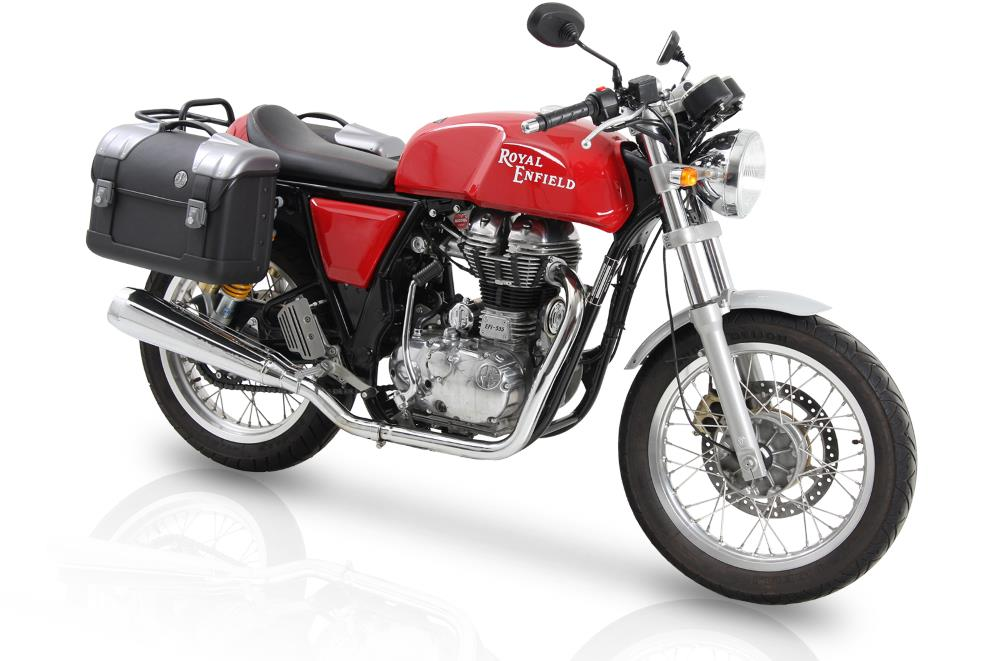 Royal Enfield Continental_GT_with C-Bow mounts & Strayker city cases from Hepco & Becker & M.A.P