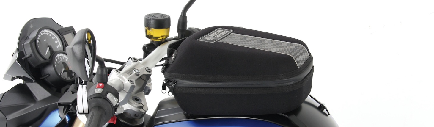 Hepco Becker Daypack Tankbag mounted via LockIt Tankring from Motorcycle Adventure Products
