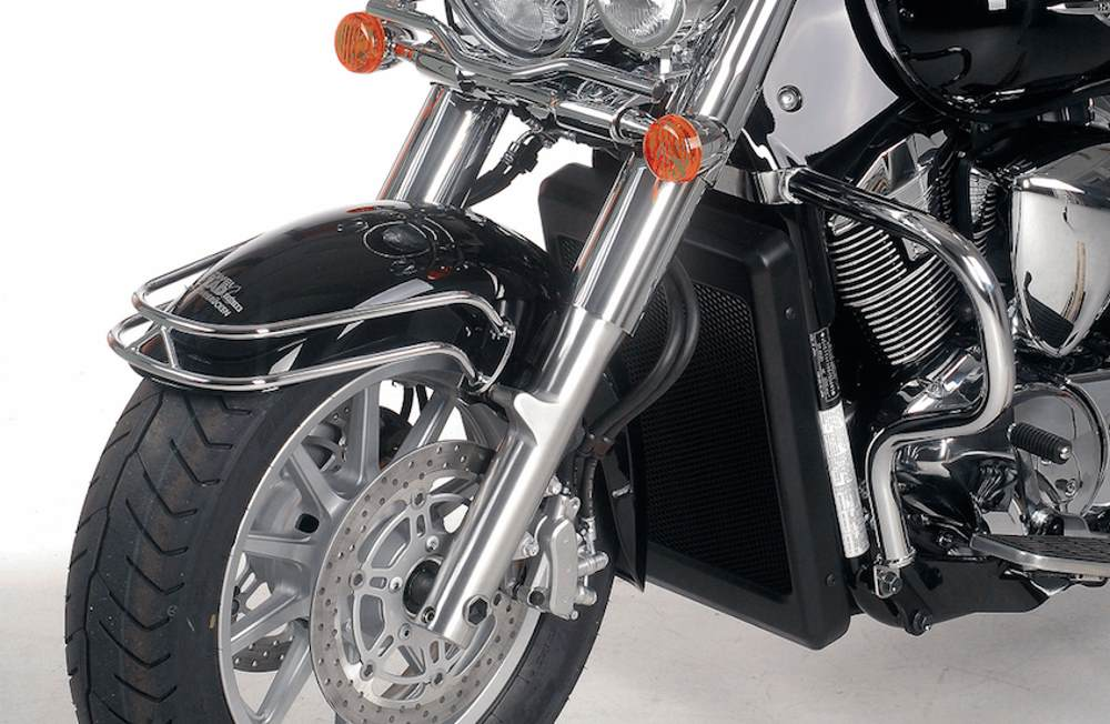 Hepco & Becker Cruiser and Harley Fender Guards from Motorcycle Adventure Products