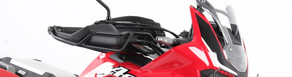 Hepco & Becker protective Hand Guards on Honda CRF1000L Africa Twin from Motorcycle Adventure Products