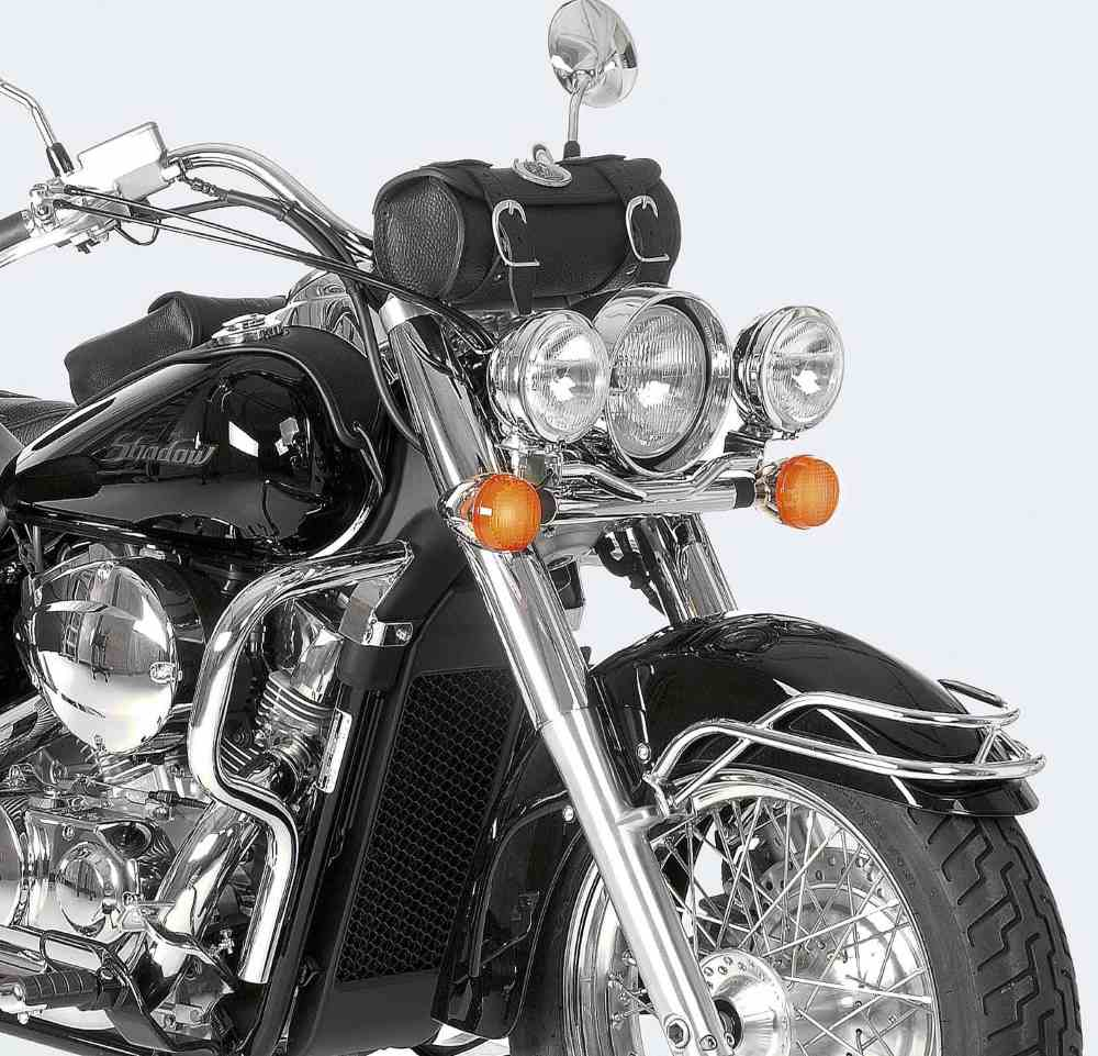 Brighten up the road at night with Hepco & Beckers Cruiser  Twinlights from Motorcycle Adventure Products