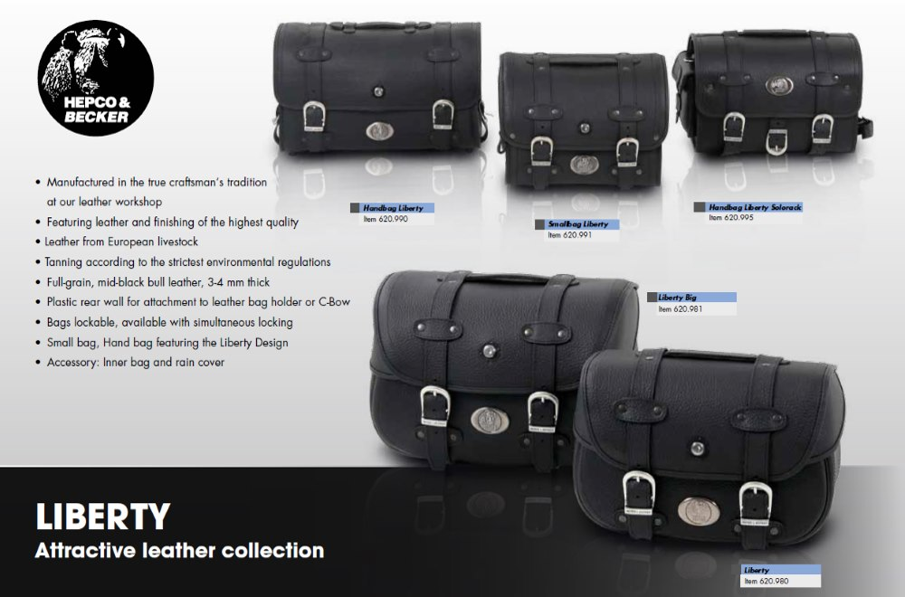 Liberty Leatherbag range by Hepco & Becker