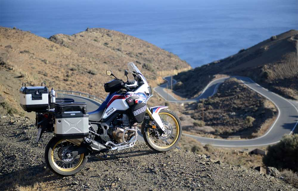 XPLORER CUTOUT cases on Honda CRF1000L Africa Twin