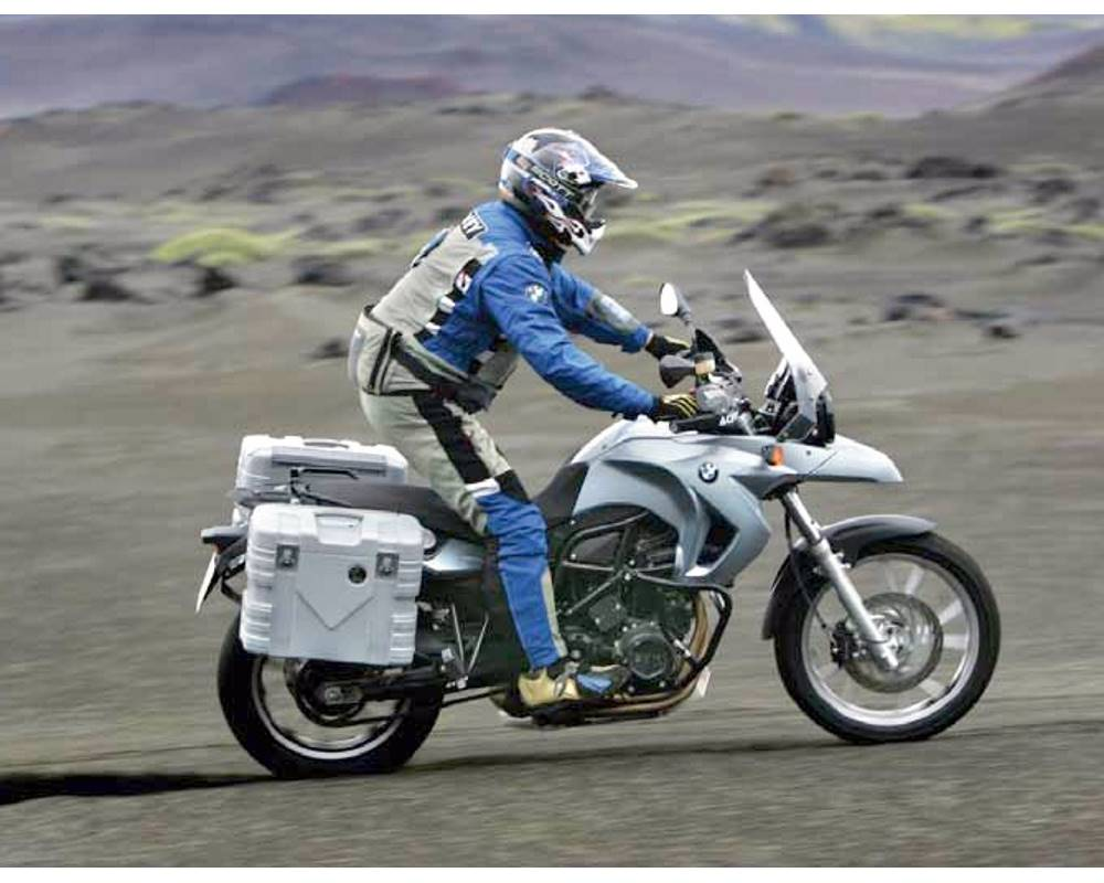 GOBI Silver under test in Iceland with F650GS