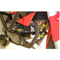 Driving school protection bar front Honda CBR 125 R / up to 2010