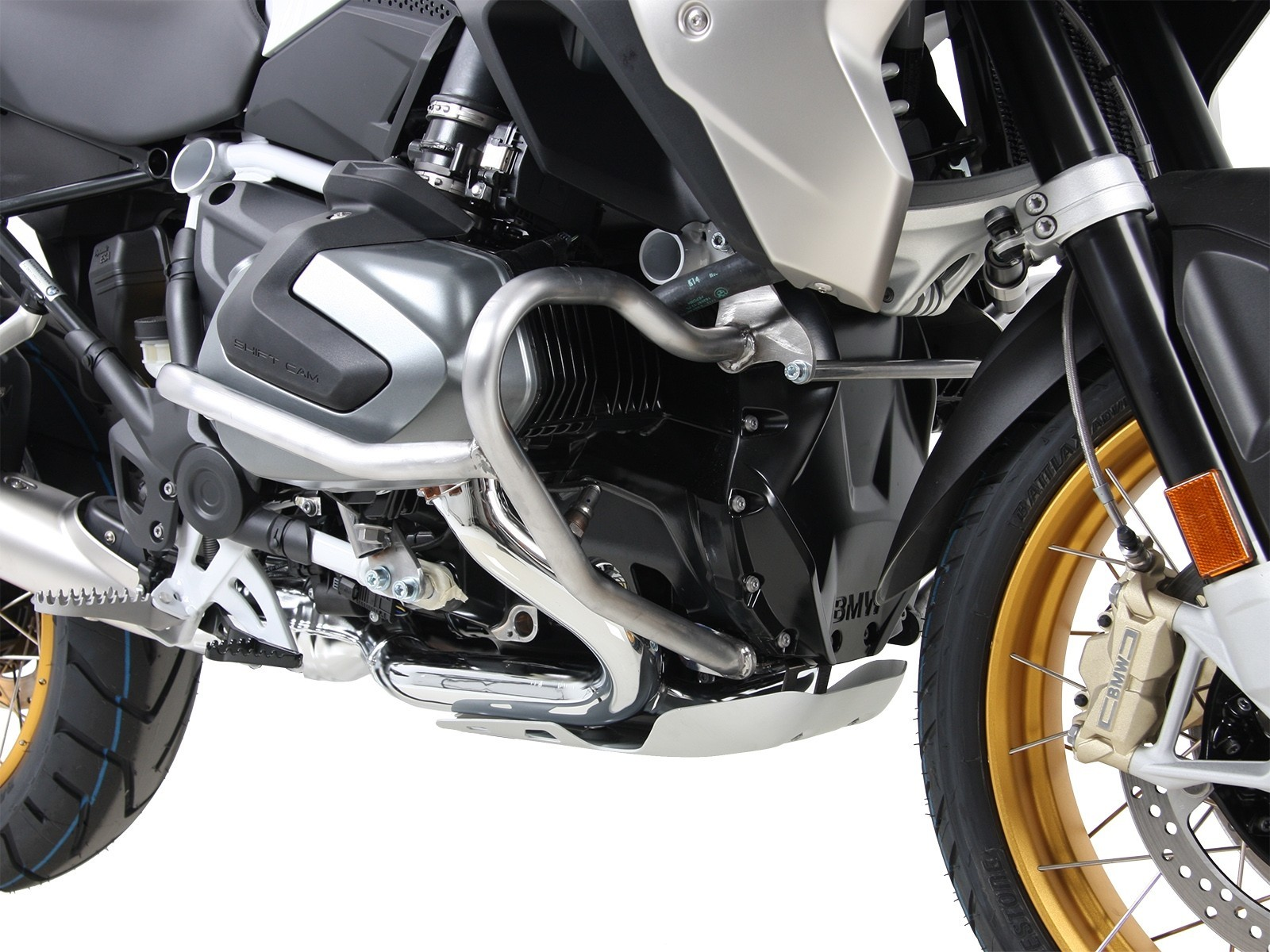 Engine Guard for BMWs R1250GS 2018 stainless steel by Hepco & Becker  effective protection!