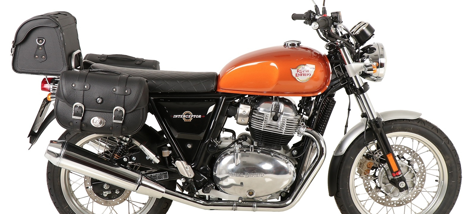Royal Enfield Continental and Interceptor 650 with Accessories