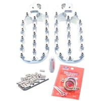 Fastway Pro Moto Billet Adventure Clear Footpeg KIT