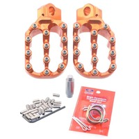 Fastway Pro Moto Billet EVO Air Orange Footpeg KIT